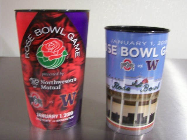 2019 Souvenir Rose Bowl Cups (front)