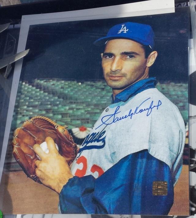 An 8 x 10 photo of Sandy Koufax
