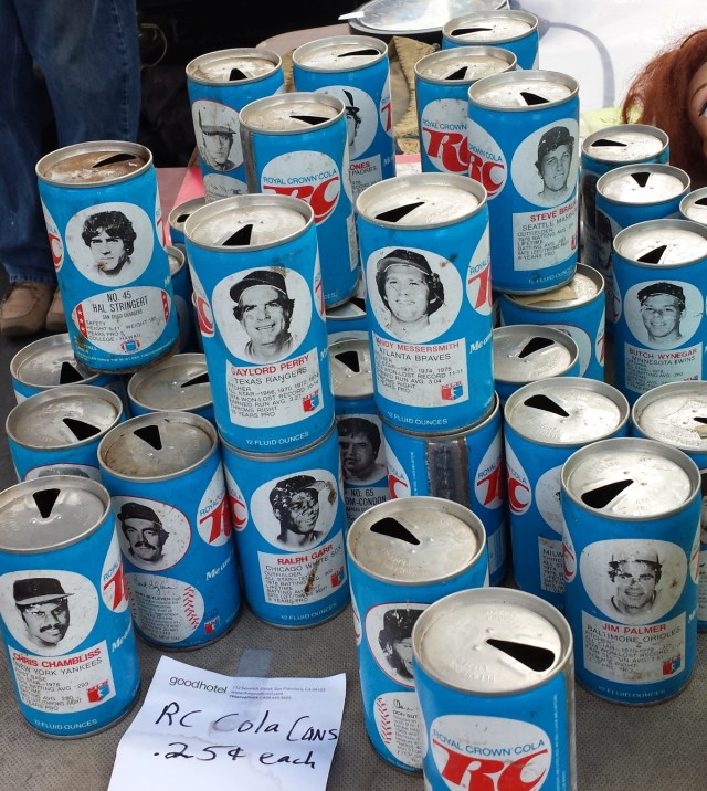 Assorted 1977 and/or 1978 RC Cola cans featuring MLB players (and an NFL player)