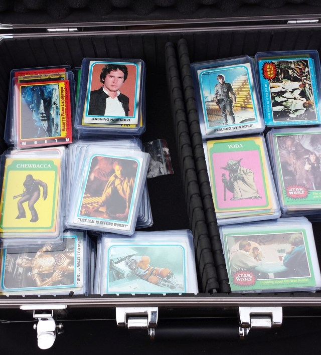 Assorted Star Wars cards