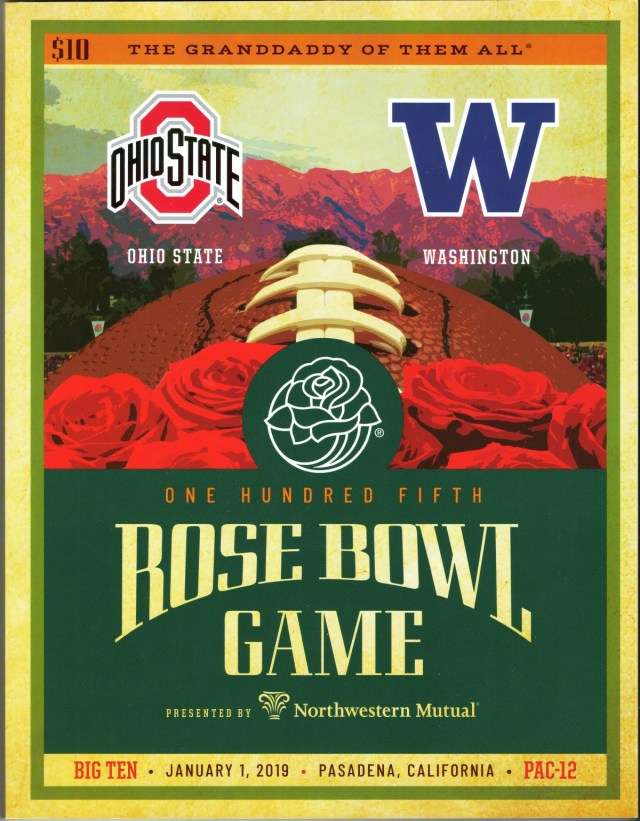 2019 Rose Bowl Program