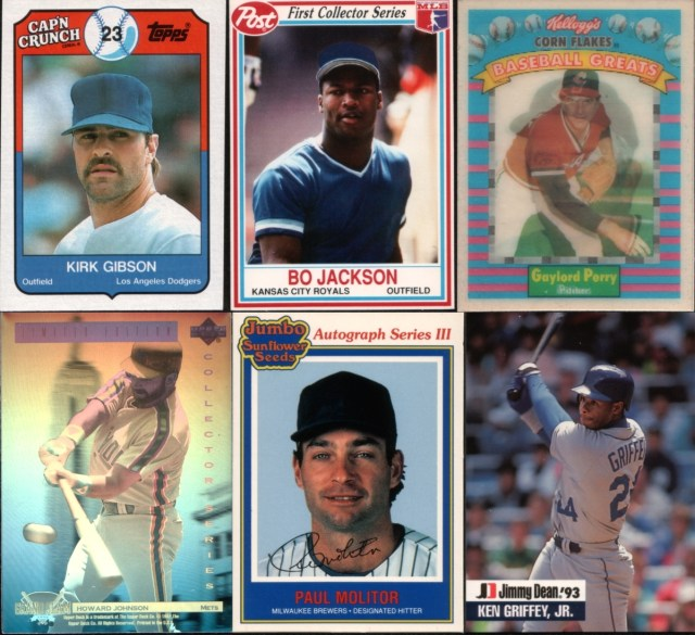 Assorted oddball baseball cards