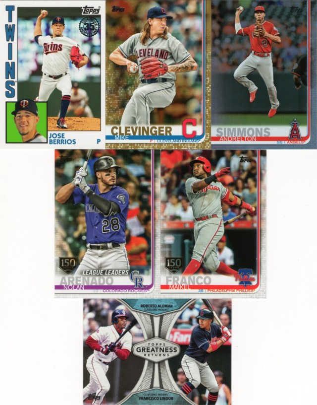2019 Topps Series 1 inserts from hobby packs