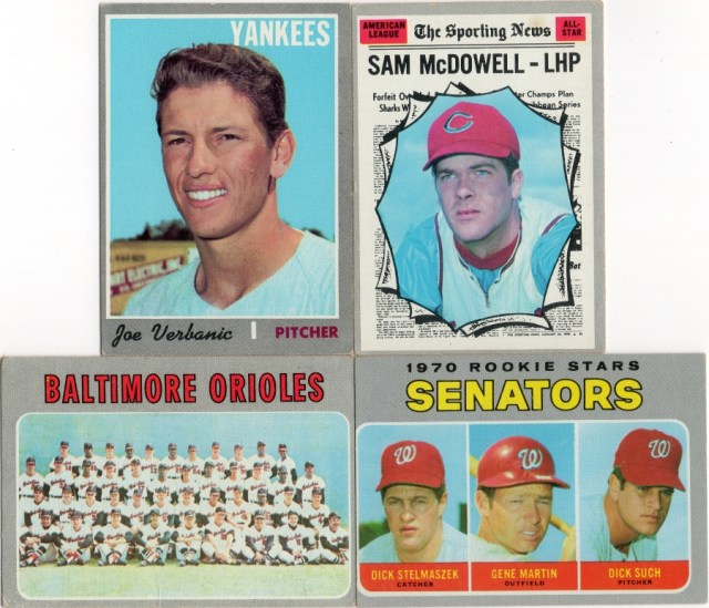 More 1970 Topps (not Heritage) baseball cards