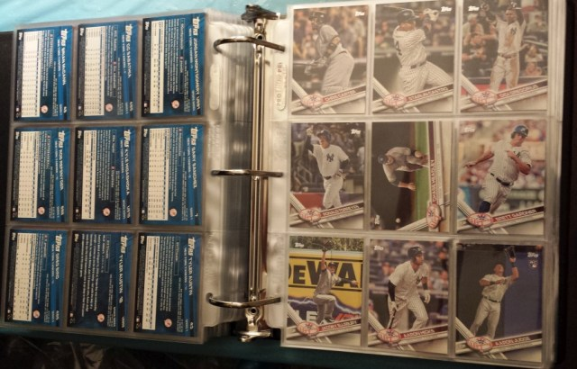 The (2017 Topps) American League binder