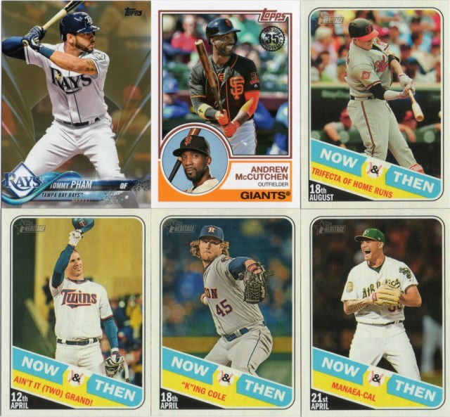 Some Topps and Topps Heritage High Numbers inserts
