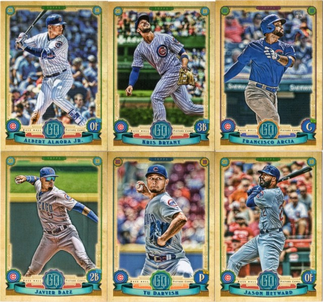 More 2019 Topps Gypsy Queen Cubs base cards