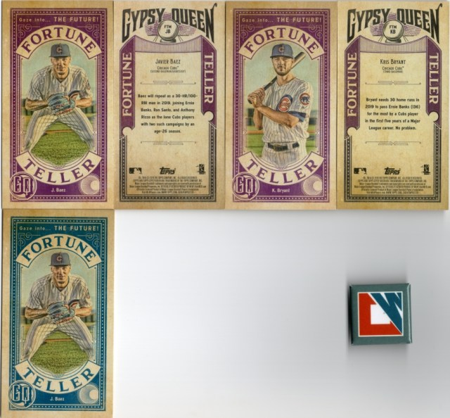 2019 Topps Gypsy Queen: Cubs Fortune Teller inserts with an Indigo parallel