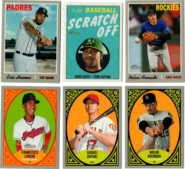 Assorted 2019 Topps Heritage inserts and variations