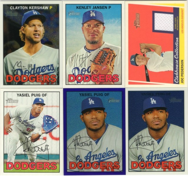 Assorted 2014 Topps Heritage Dodger cards