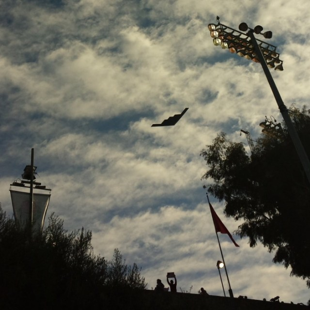 B-2 Flyover at the 2020 Rose Bowl