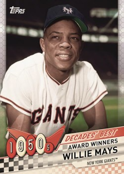 2020 Topps Decades Best Willie Mays