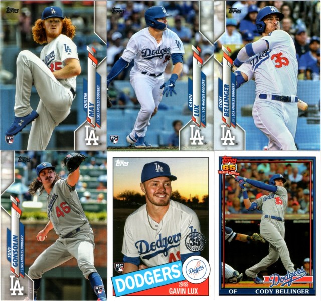 More 2020 Topps Series 1 Dodgers including insert cards