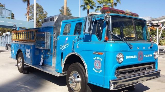 LA Dodgers Fire Truck