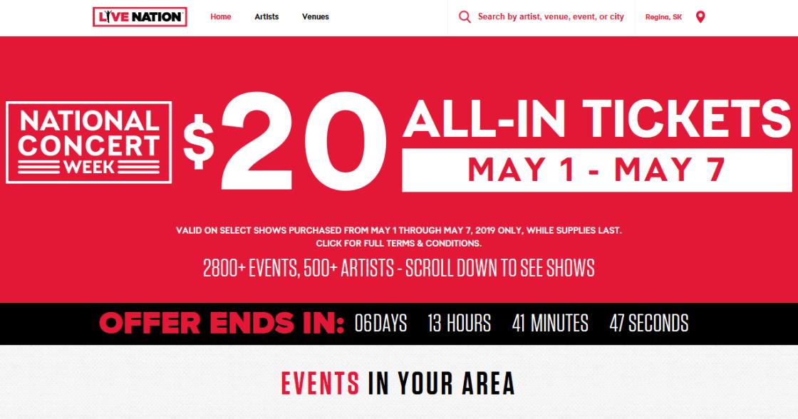 $20 concert tickets 1