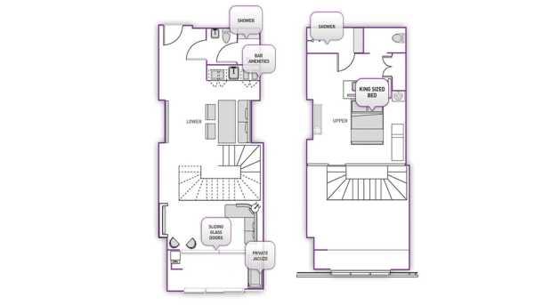 lanai suite layout at the cosmopolitan las vegas