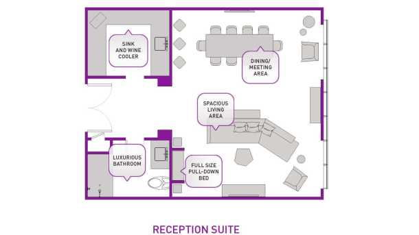 recepttion suite layout at the cosmopolitan las vegas
