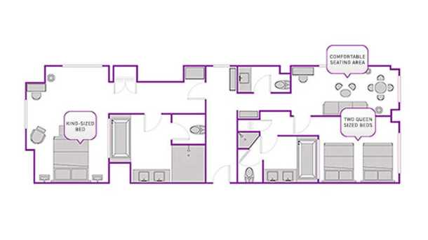 two bedroom city suite layout at the cosmopolitan las vegas