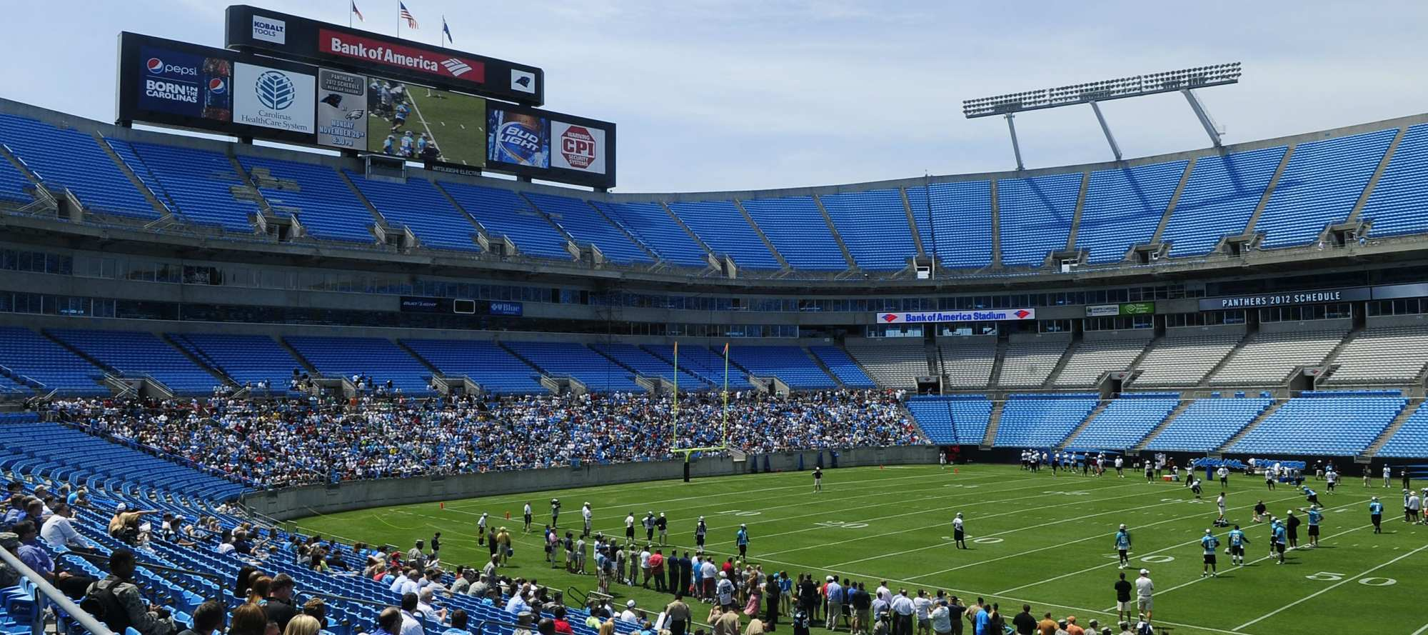 hight resolution of bank of america stadium parking guide
