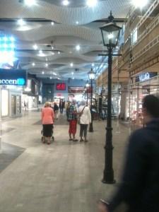 På Väla centrum hittar du gatulyktor.