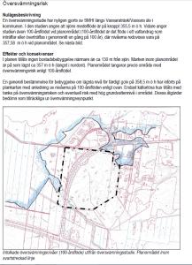 Redovisning av 100-årsflöden från SMHI i planbeskrivningen för Gällivare 4:18 m fl (Andra Sidan)