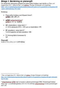 Bilaga 3:Beräkning av planavgift.