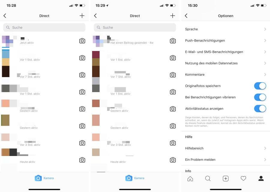 Instagram zeigt jetzt anderen Nutzern, wann ihr zuletzt online wart