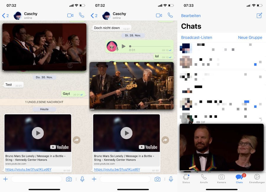 WhatsApp Messenger: Ab sofort mehr Komfort bei YouTube-Videos im Chat