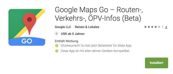 google maps go in deutschland nutzbar. Black Bedroom Furniture Sets. Home Design Ideas