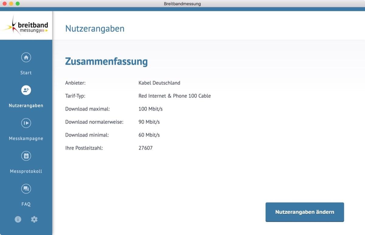 Breitbandmessung Desktop-App: Speedtest der Bundesnetzagentur