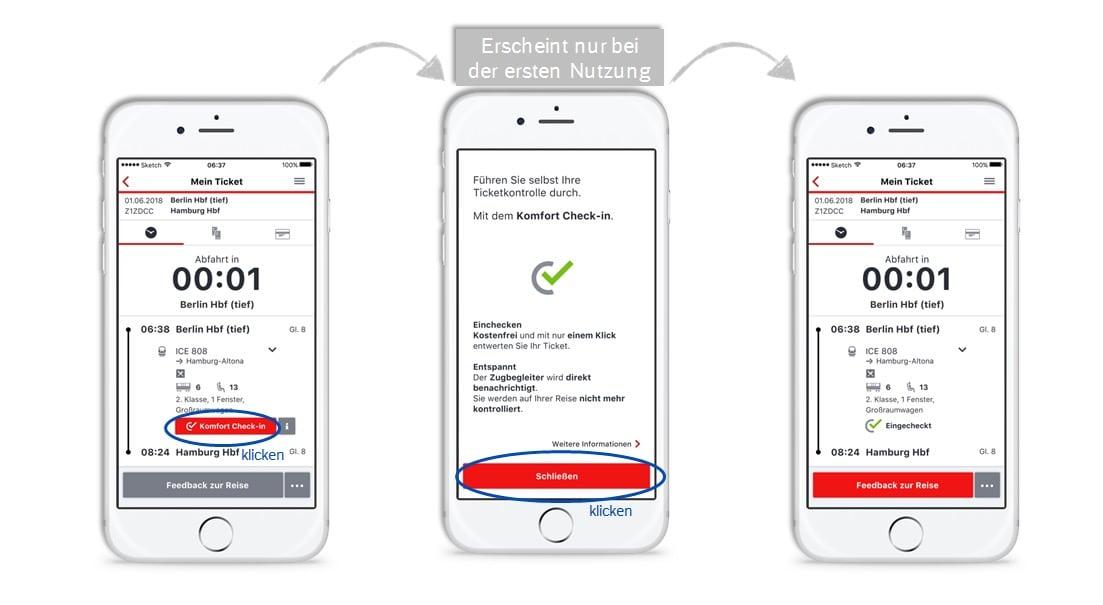 Deutsche Bahn Bundesweite Einführung Des Komfort Check In