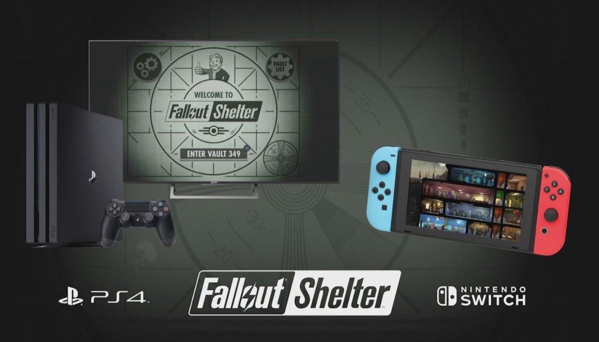 Fallout Shelter Für Nintendo Switch Und Sony Playstation 4 Angekündigt
