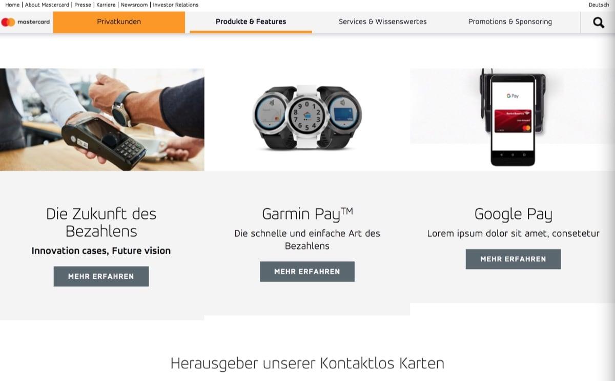 Google Pay In Deutschland Mastercard Schaltet Platzhalter Seite