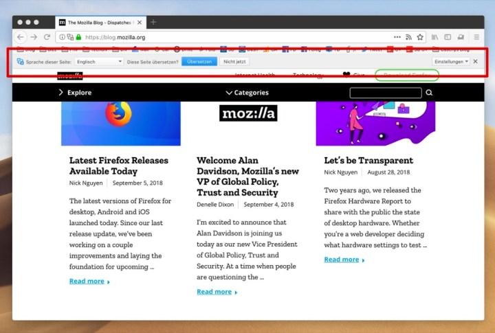 Mozilla Firefox: Mozilla experimentiert mit Google ...