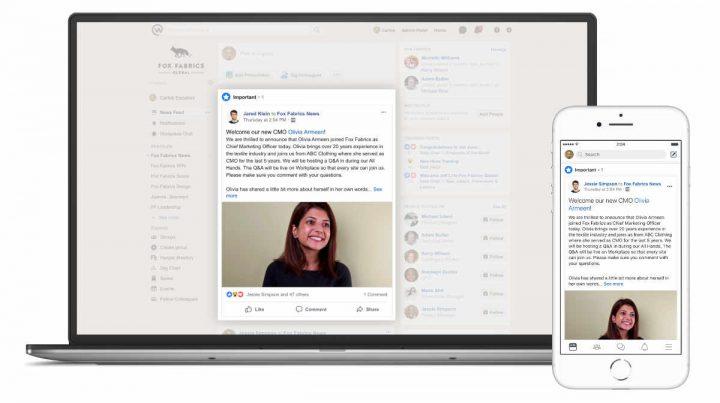 Facebook führt neue Workplace-Funktionen ein
