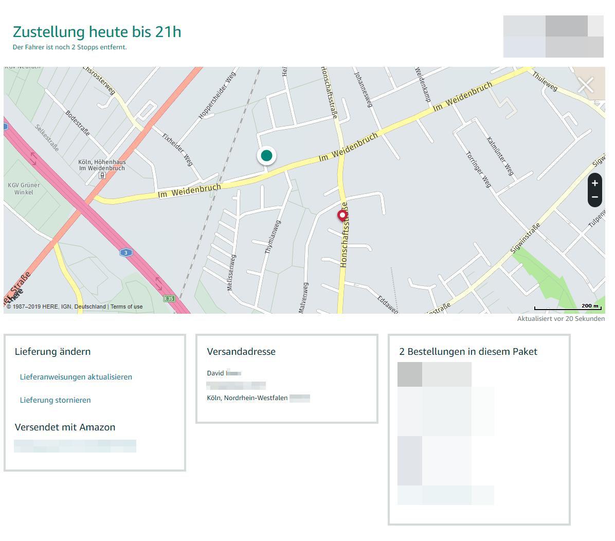 amazon live tracking