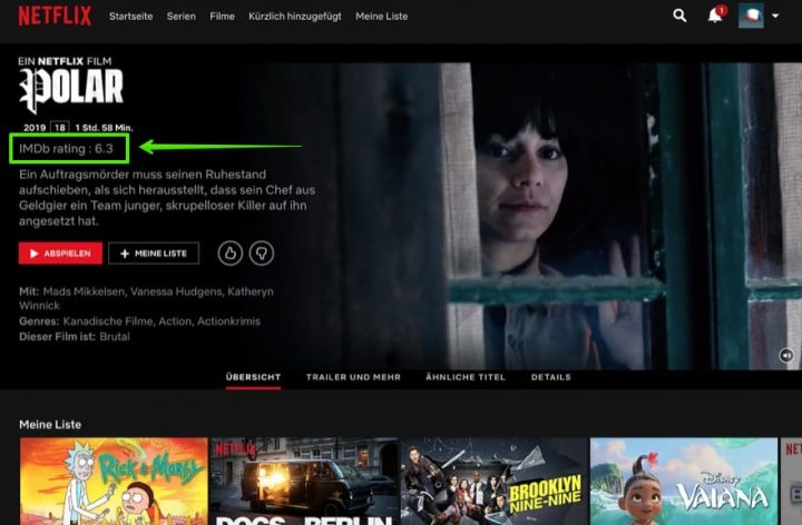 Chrome Extension gives you IMDb ratings on Netflix content