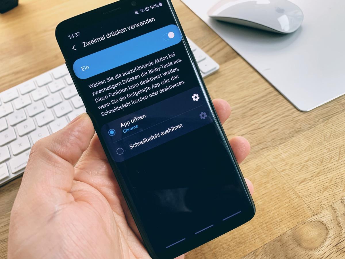 Bixby Taste Neu Belegen Note 8