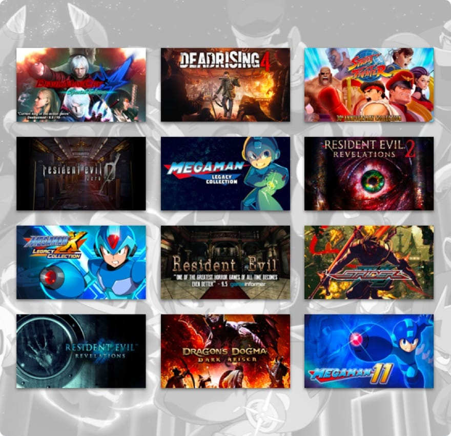 Humble Capcom Mega Bundle With Street Fighter Resident Evil And