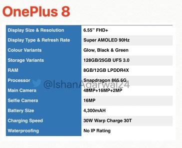 oneplus-8-specs