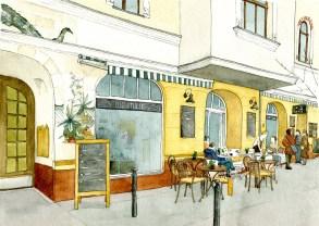 Illustration des Cafés Die Stulle