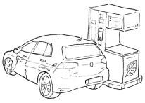 Linienzeichnung Erdgasauto