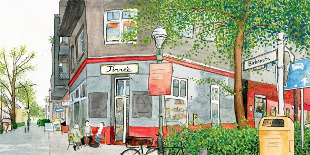 Illustration des Cafés Tirree