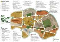 Illustrierte Kiezkarte des Stadtteils Berlin-Moabit