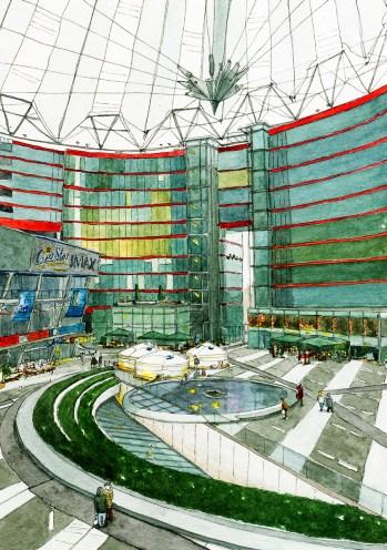 Illustration vom Sony Center