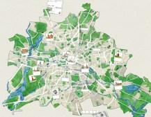 Stadtplan Berlin als Kartengrundlage für dem Geschäftsbericht 2016 von ADO beigelegten Poster