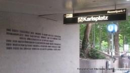 U-Bahn Karlsplatz Ausgang Resselpark