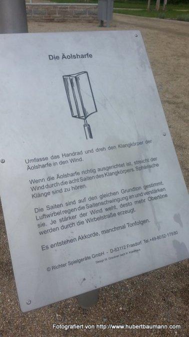 Aschaffenburg Grünbrücke Äolsharfe Beschreibung
