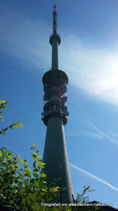 Funkturm des bayerischen Rundfunks auf dem Pfaffenberg