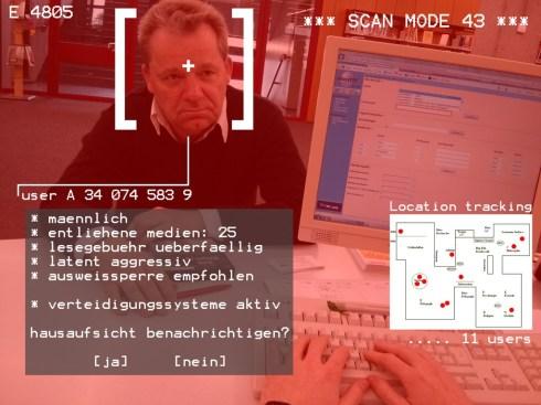 So sieht es aus, wenn Glass live Informationen zu einem Kunden abruft.